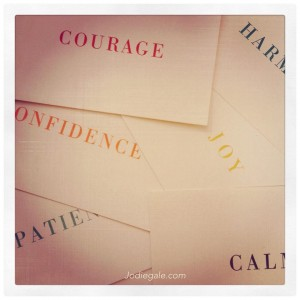 evocative word cards