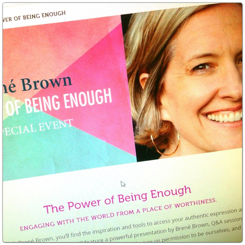 Brene Brown the power of being enough