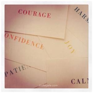 evocative word cards