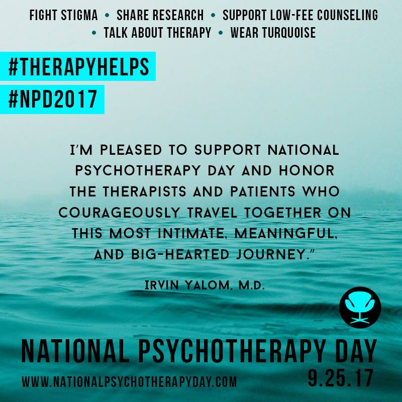 Moments of Meaning on National Psychotherapy Day #NPD2017