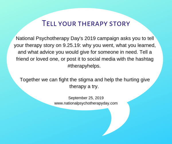 National Psychotherapy Day Tell Your Story