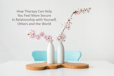 How therapy can help you feel more secure